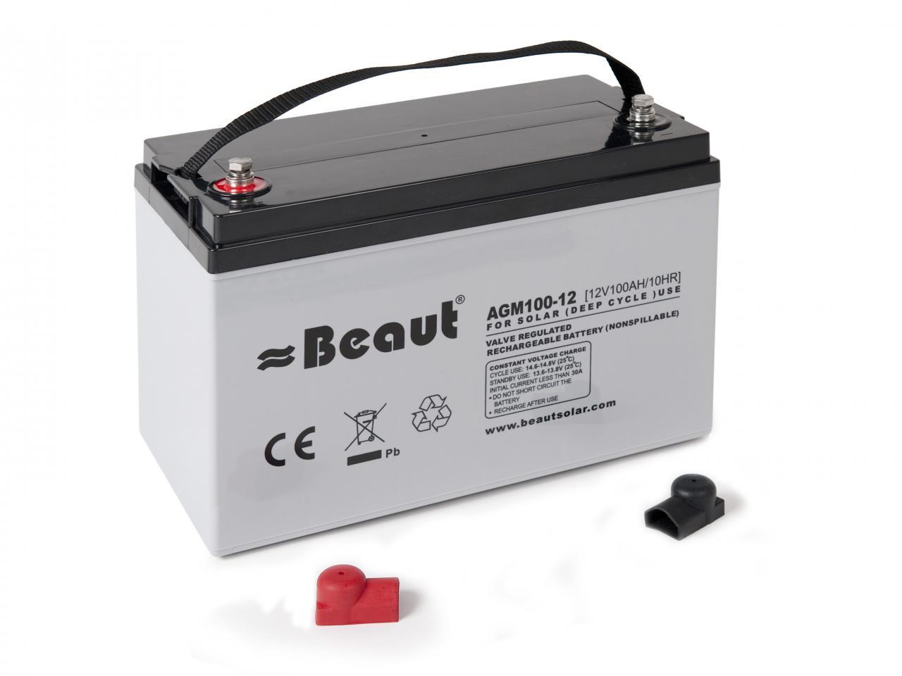 batteries beaut agm battery 100ah. Black Bedroom Furniture Sets. Home Design Ideas